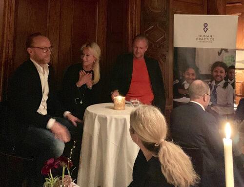Fundraising dinner in Stockholm